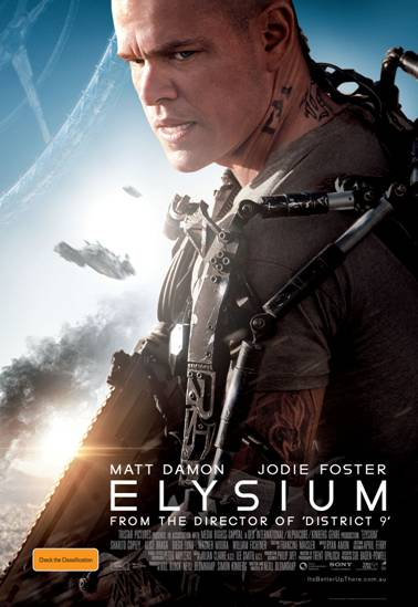 Elysium_Launch_A4 Poster, Courtesy Sony Pictures releasing (Australia)
