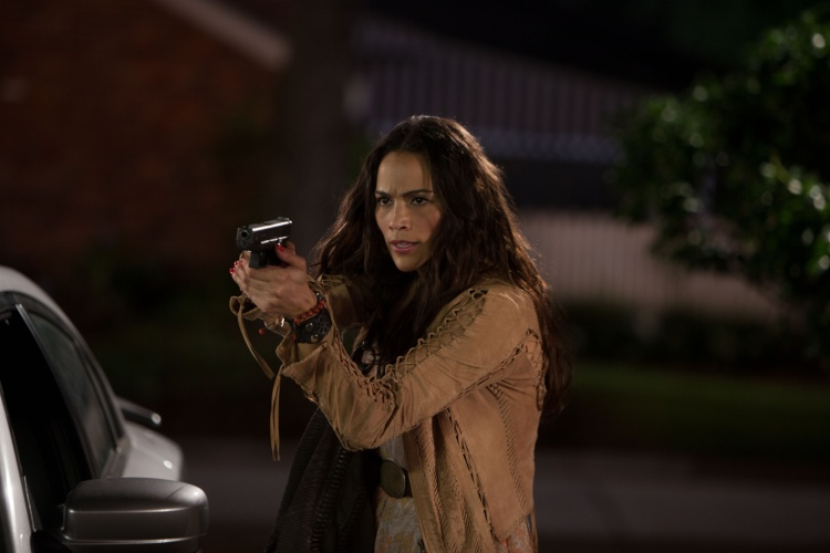 "Paula Patton in Columbia Pictures' ""2 GUNS,"" starring Denzel Washington and Mark Wahlberg. Courtesy Sony Pictures Releasing (Australia)"