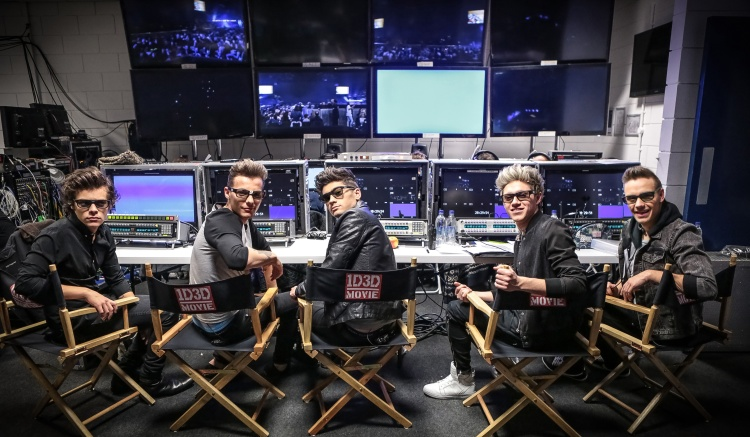 """L-r, Harry Styles, Louis Tomlinson, Zayn Malik, Niall Horan and Liam Payne star in TriStar Pictures' """"One Direction:This Is Us."""""""