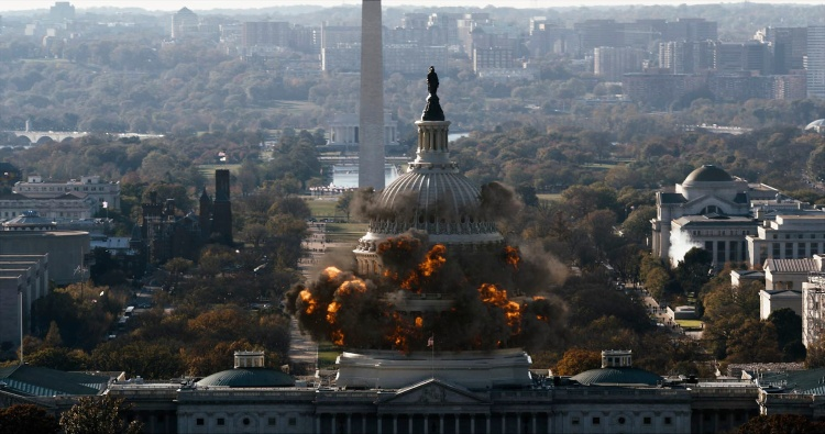 "Courtesy: Columbia Pictures' ""White House Down,"" starring Channing Tatum and Jamie Foxx."