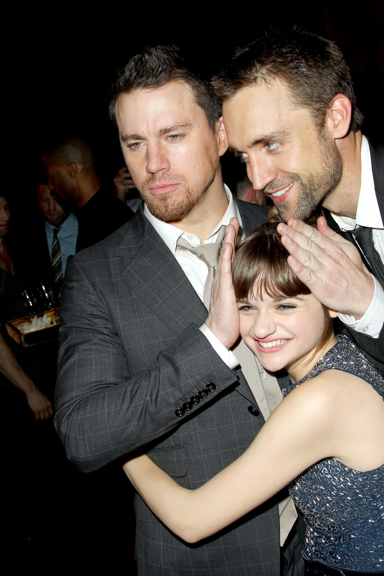 "New York, NY - June 25, 2013: L-r, Channing Tatum, Joey King and Producer Reid Carolin at the after party of Columbia Pictures' ""WHITE HOUSE DOWN,"" at the Frick Museum."