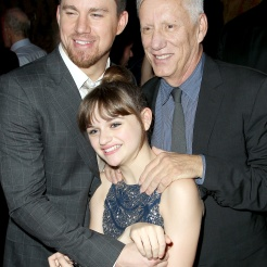 "New York, NY - June 25, 2013: L-r, Channing Tatum, Joey King and James Woods at the after party of Columbia Pictures' ""WHITE HOUSE DOWN,"" at the Frick Museum."