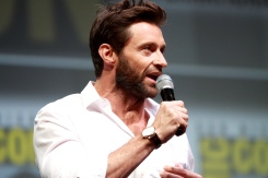 "Hugh Jackma, one of the stars in the movie. Here: Hugh Jackman speaking at the 2013 San Diego Comic Con International, for ""The Wolverine"", at the San Diego Convention Center in San Diego, California. LicenseSome rights reserved by Gage Skidmore"