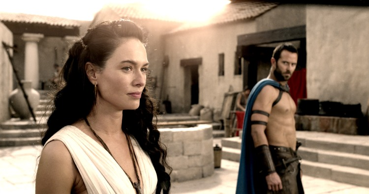 "300ROAE-FP-0002 Film Name: 300: RISE OF AN EMPIRE Copyright: © 2014 WARNER BROS. ENTERTAINMENT INC. AND LEGENDARY PICTURES FUNDING, LLC. Photo Credit: Courtesy of Warner Bros. Pictures Caption: (L-r) LENA HEADEY as Queen Gorgo and SULLIVAN STAPLETON as Themistokles in Warner Bros. Pictures' and Legendary Pictures' action adventure ""300: RISE OF AN EMPIRE,"" a Warner Bros. Pictures release."