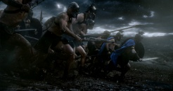 "Copyright: © 2014 WARNER BROS. ENTERTAINMENT INC. AND LEGENDARY PICTURES FUNDING, LLC. Photo Credit: COURTESY OF WARNER BROS. PICTURES Caption: A scene from Warner Bros. Pictures' and Legendary Pictures' action adventure ""300: RISE OF AN EMPIRE,"" a Warner Bros. Pictures release."