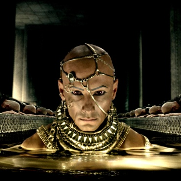 """Copyright: © 2014 WARNER BROS. ENTERTAINMENT INC. AND LEGENDARY PICTURES FUNDING, LLC. Photo Credit: Courtesy of Warner Bros. Pictures Caption: RODRIGO SANTORO as Xerxes in Warner Bros. Pictures' and Legendary Pictures' action adventure """"300: RISE OF AN EMPIRE,"""" a Warner Bros. Pictures release."""