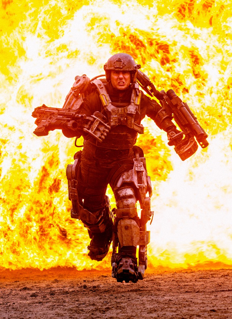 "AYNIK-D020-3824 Film Name: EDGE OF TOMORROW Copyright: © 2014 WARNER BROS. ENTERTAINMENT INC. - U.S., CANADA, BAHAMAS & BERMUDA  © 2014 VILLAGE ROADSHOW FILMS (BVI) LIMITED - ALL OTHER TERRITORIES Photo Credit: David James Caption: TOM CRUISE as Major William Cage in Warner Bros. Pictures' and Village Roadshow Pictures' sci-fi thriller ""EDGE OF TOMORROW,"" distributed worldwide by Warner Bros. Pictures and in select territories by Village Roadshow Pictures."