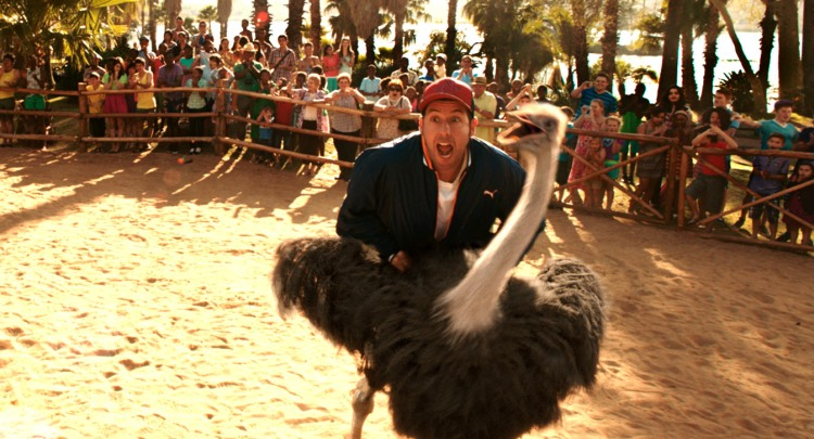 "BL-TRL1-001 Film Name: BLENDED Copyright: © 2014 WARNER BROS. ENTERTAINMENT INC. Photo Credit: Courtesy of Warner Bros. Pictures Caption: ADAM SANDLER as Jim in Warner Bros. Pictures' romantic comedy ""BLENDED,"" a Warner Bros. Pictures release."
