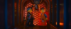 "LG-FP-175 Film Name: THE LEGO® MOVIE Copyright: (C) 2014 WARNER BROS. ENTERTAINMENT INC. Photo Credit: Courtesy of Warner Bros. Pictures Caption: (L-r) LEGO® minifigures Wyldstyle (voiced by ELIZABETH BANKS), Batman (WILL ARNETT) and Emmet (CHRIS PRATT) in the 3D computer animated adventure ""The LEGO® Movie,"" from Warner Bros. Pictures, Village Roadshow Pictures and Lego System A/S. A Warner Bros. Pictures release."